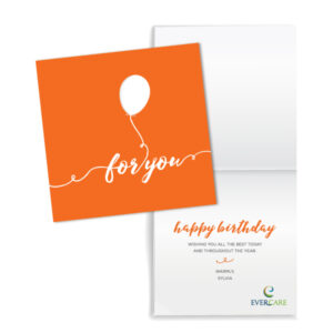 EverCare birthday card