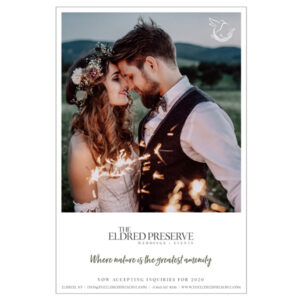 The Eldred Preseve Weddings + Events print ad