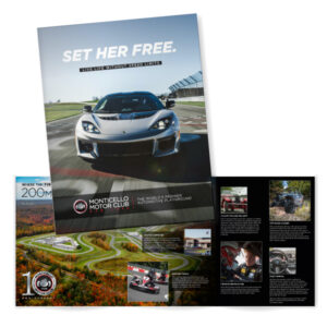 Monticello Motor Club brochure