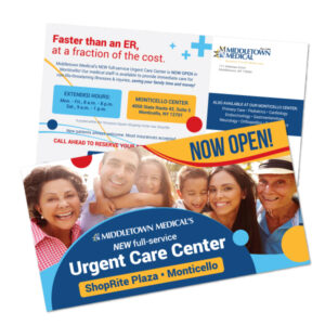 Middletown Medical Monticello Center grand opening mailer