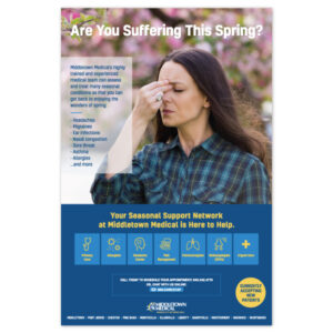 Middletown Medical spring allergies poster