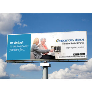 Middletown Medical patient portal billboard