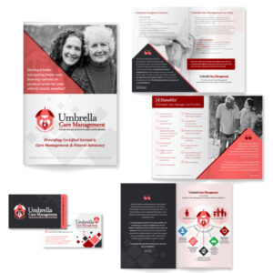 Umbrella brochure & business cards