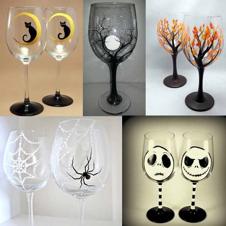 Fall Wine Glass/Beer Mug Painting
