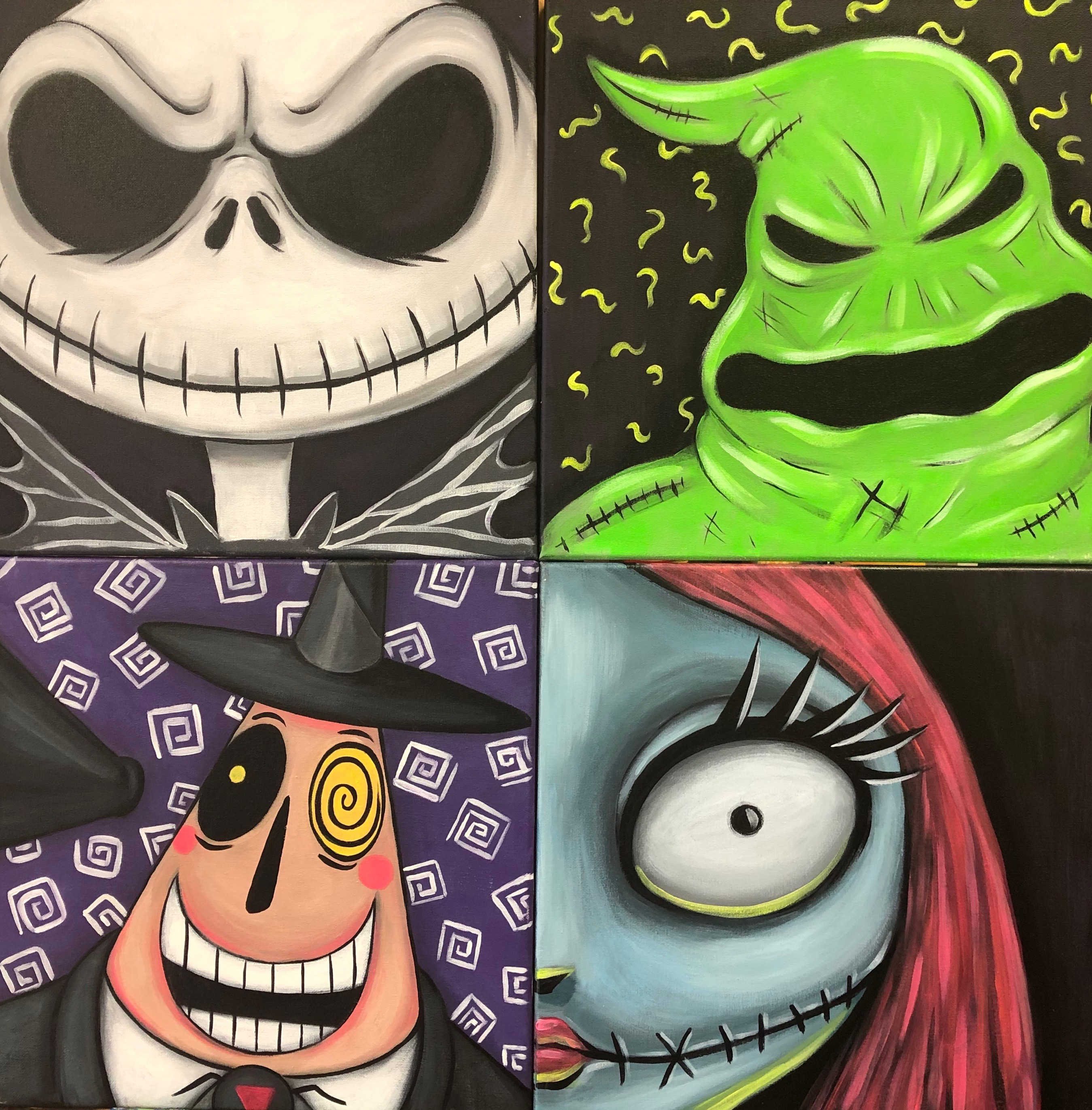 Nightmare Before Christmas Painting-YOU CHOOSE!