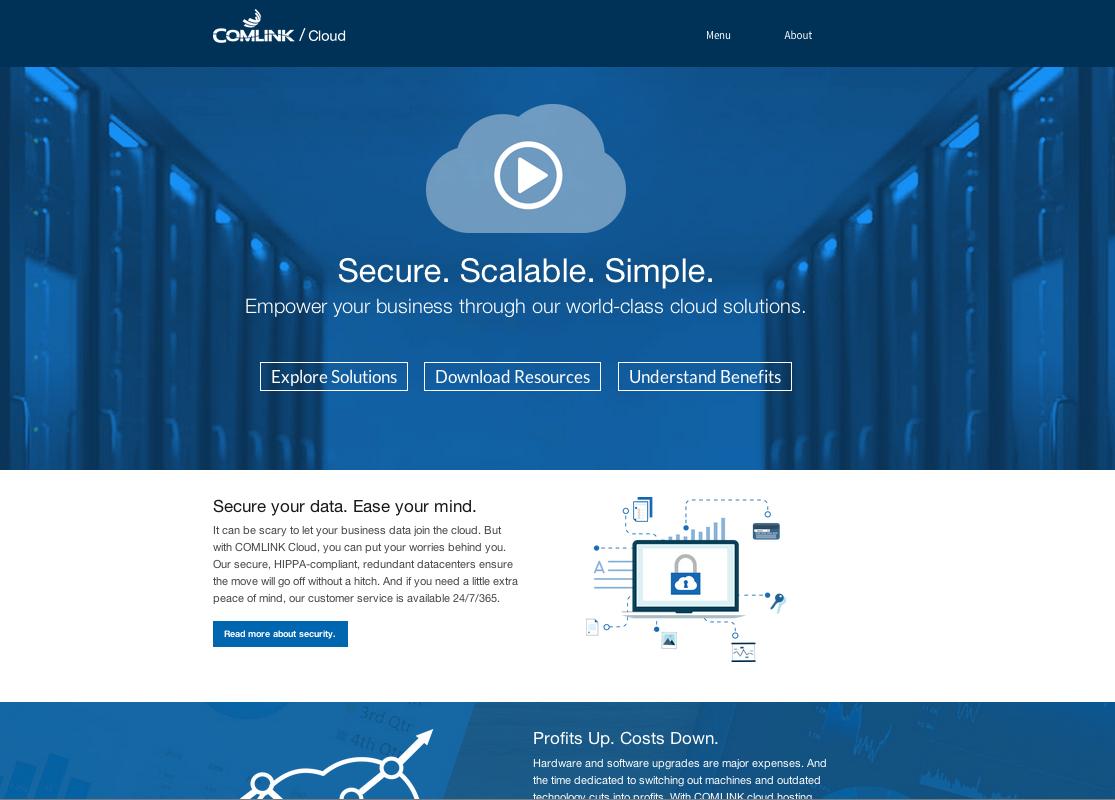 Comlink Cloud Microsite