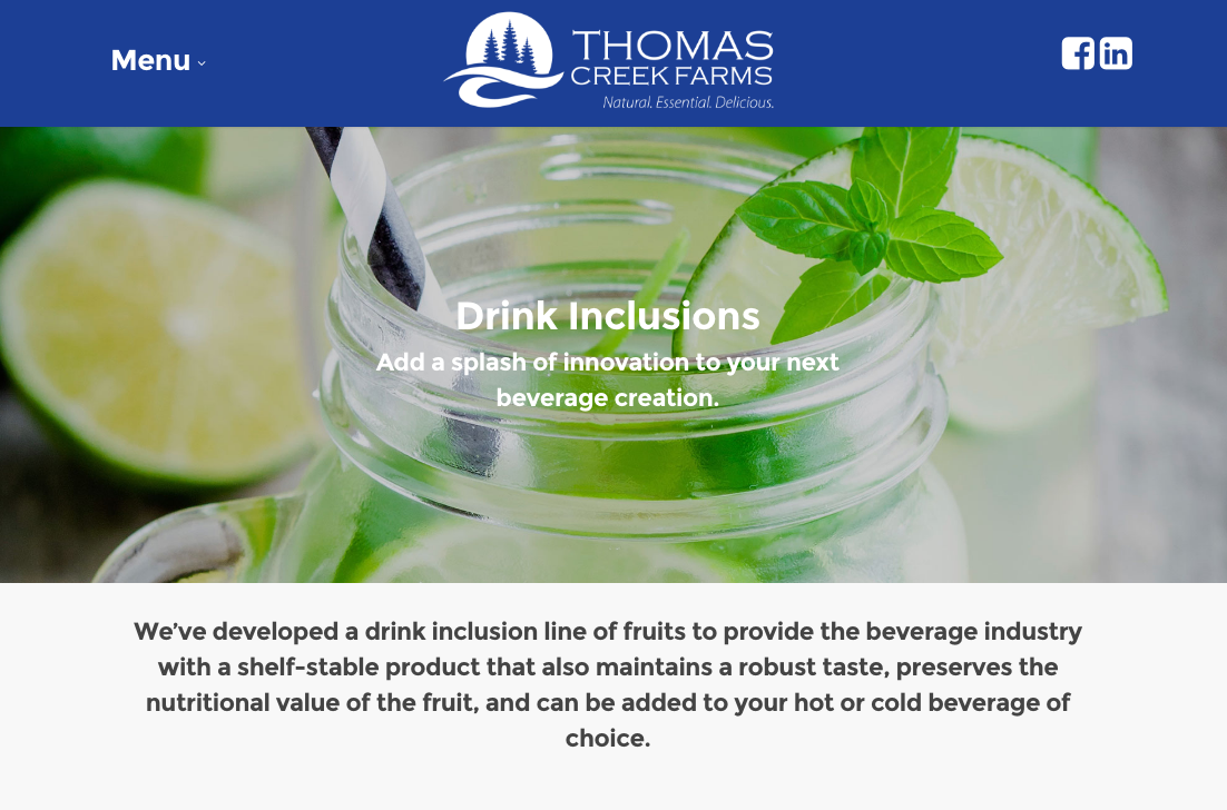 Drink inclusions