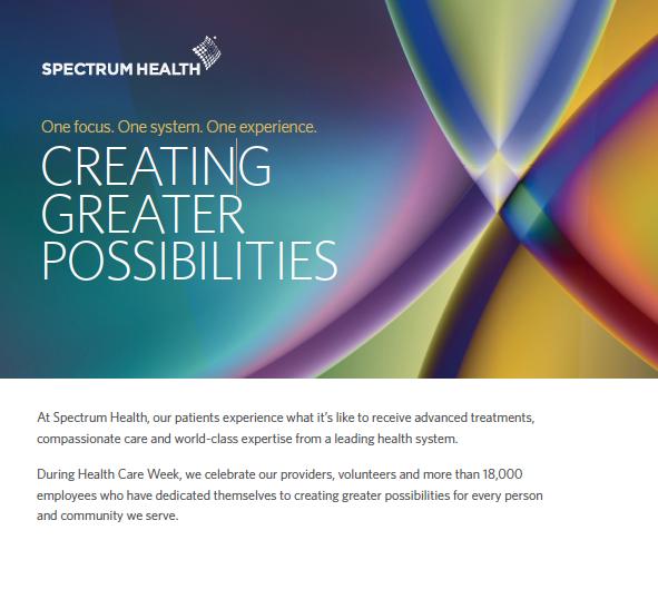SPECTRUM HEALTH AD