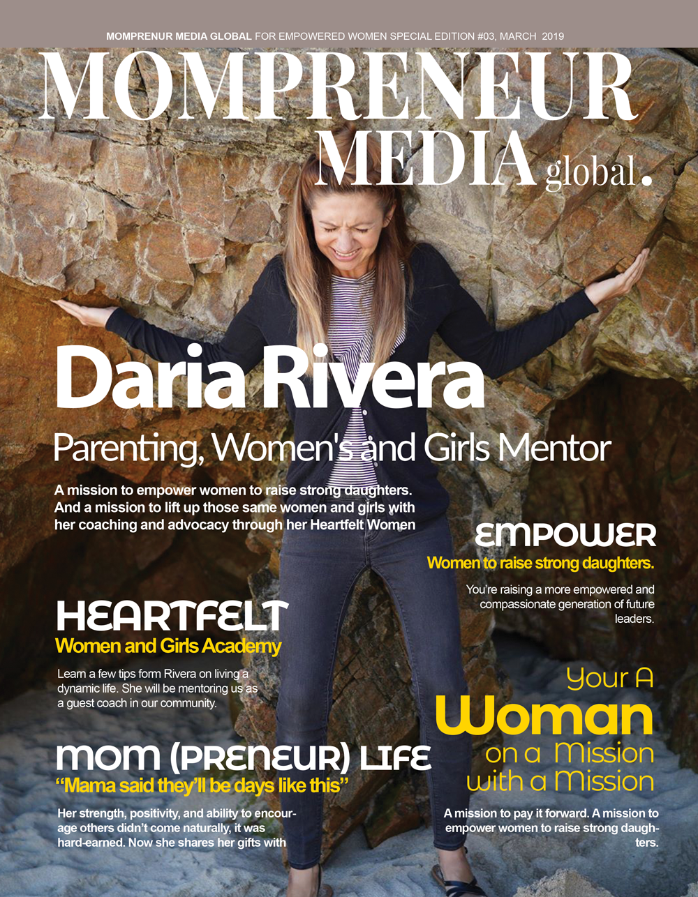 Daria Rivera Magazine Cover 2019 Mompreneur Media Global