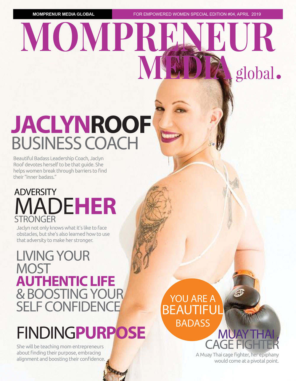 Momprenuer Media Magazine Cover of Coach Jaclyn Roof