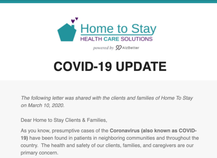 COVID-19 Family Update