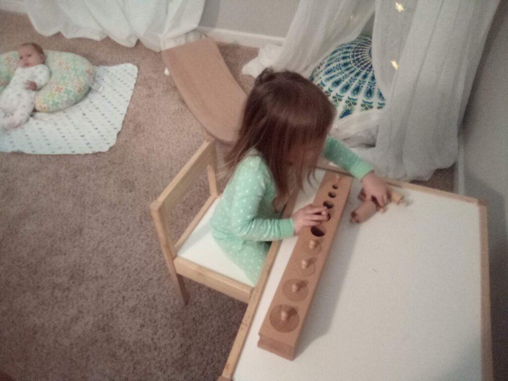 Cylinder Blocks, 3-6 Montessori, Montessori Homeschool, Sensorial Materials