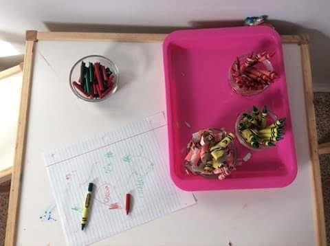 Peeling work, Montessori Toddler