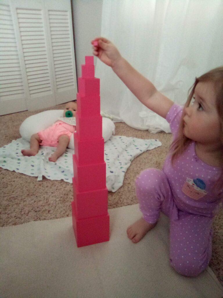 Pink Tower, Montessori 3-6, Montessori Homeschool, Sensorial Materials