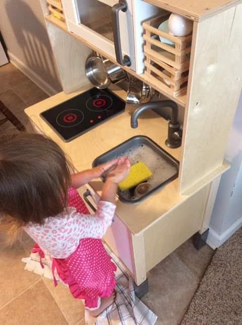 Washing Work, Montessori Toddler