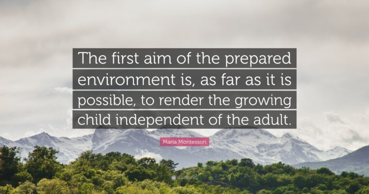 Quieting Your Space to Prepare for Montessori