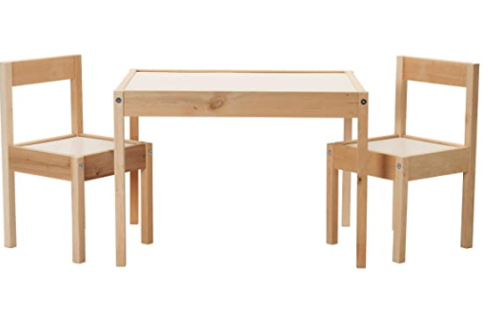 Ikea-Childrens-Table-and-Chairs Montessori Child Size Option