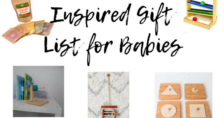 Montessori Inspired Christmas List for Baby 2020
