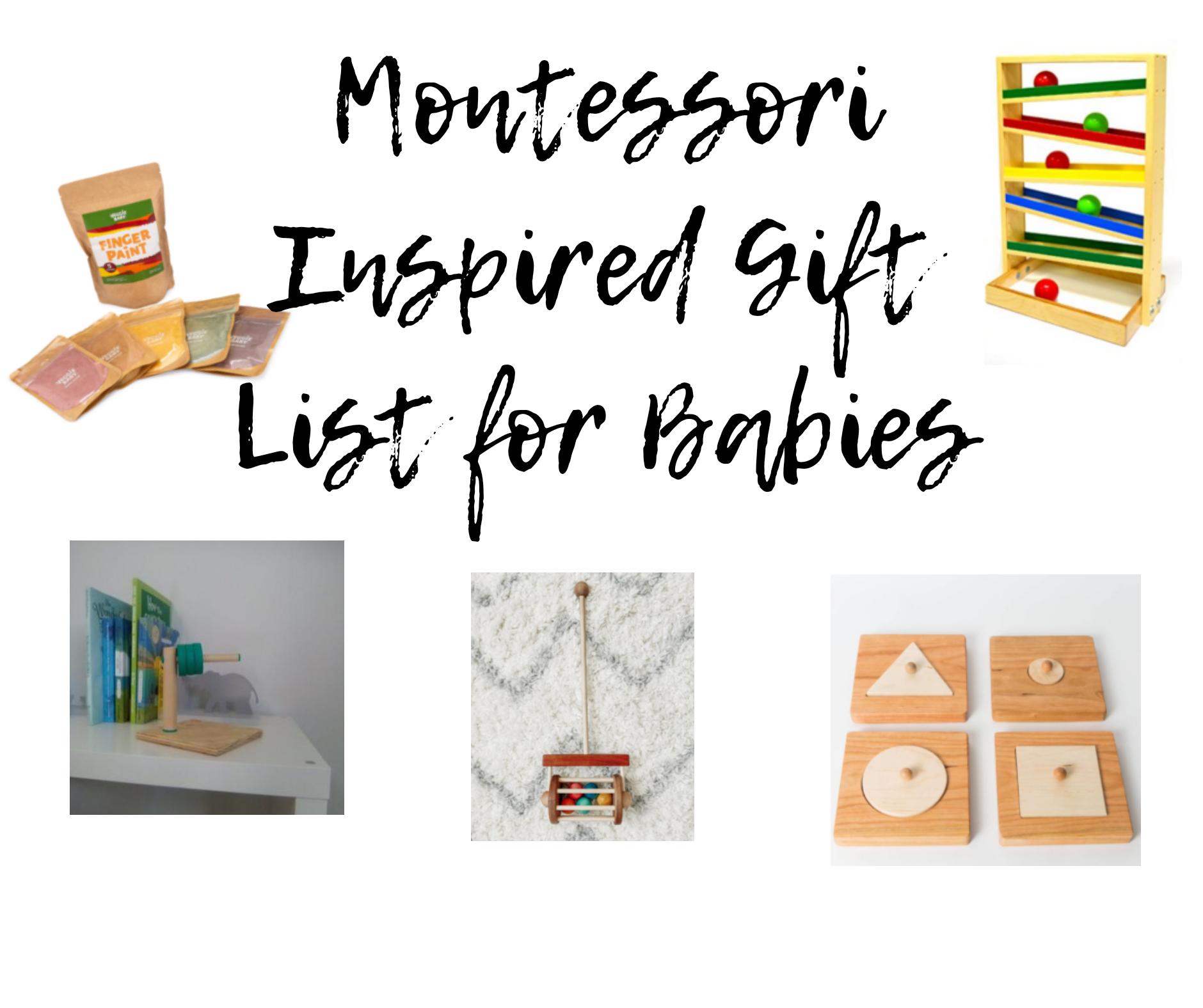 Montessori Inspired Christmas List for Baby 2020