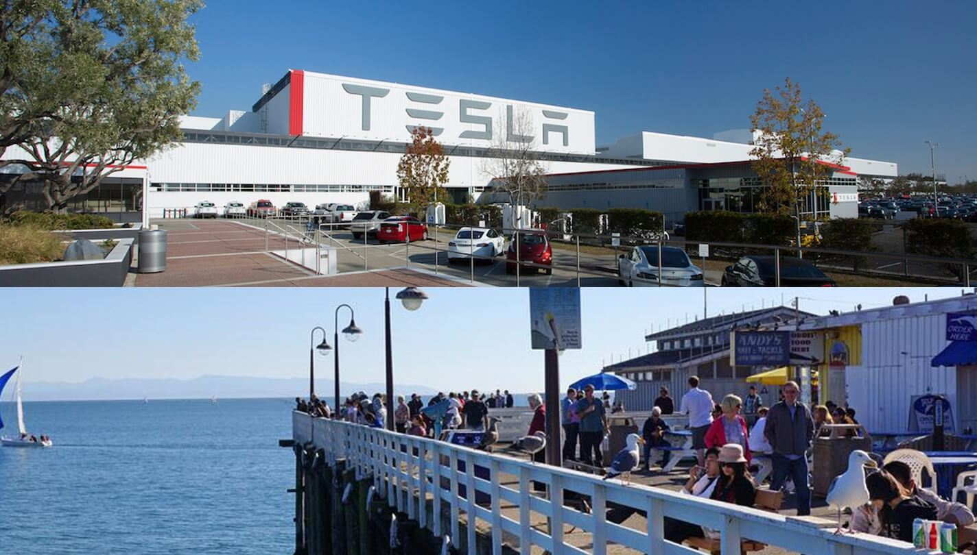 My Tesla Adventure, Meet Up, Drive & Private Dining. Freemont to Santa Cruz.