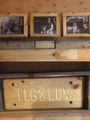 Customizable tailgate shelf
