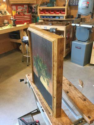 Custom canvas frame