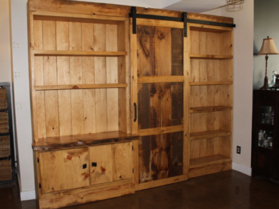 Custom Wall Unit with sliding barn door