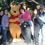 With friends at Disneyland