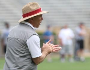 Alabama football coach Nick Saban praised Don James.