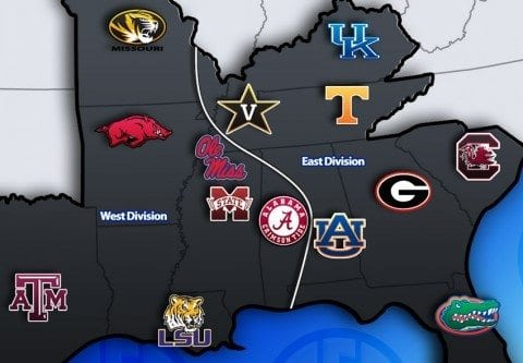 Potential SEC Divisions with 14 teams