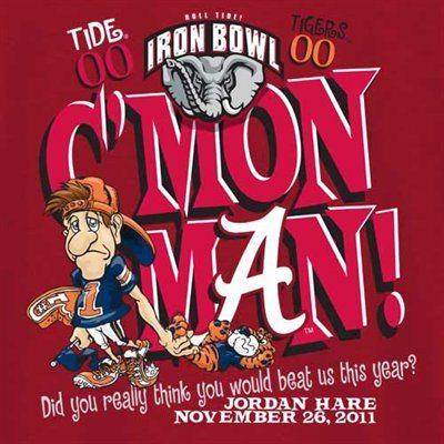 Cmon Man IronBowl Tshirt