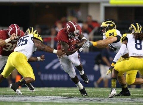 Alabama vs. Michigan 42Eddie Lacy, Running Back  Photo by Kent Gidley/UA