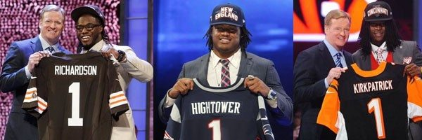 Trent Richardson, Dont'a Hightower and Dre Kirkpatrick