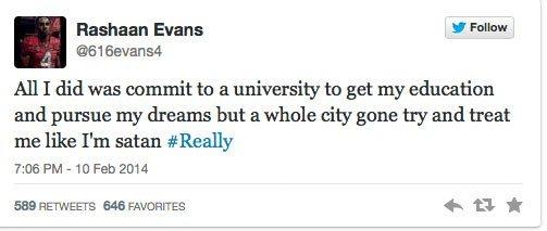 Rashaan Evans tweet