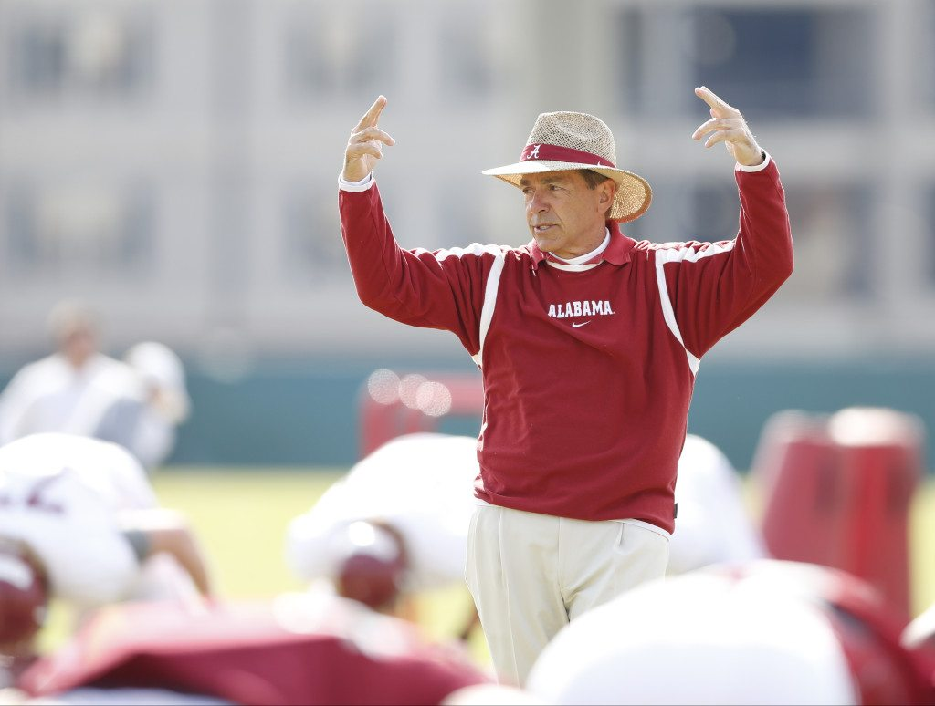 Nick Saban has interest in Alabama Football growing