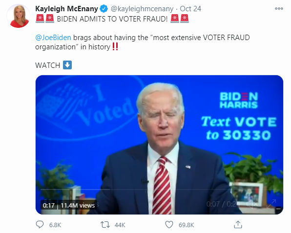 FLASHBACK: Joe Biden admits to 'extensive voter fraud organization'