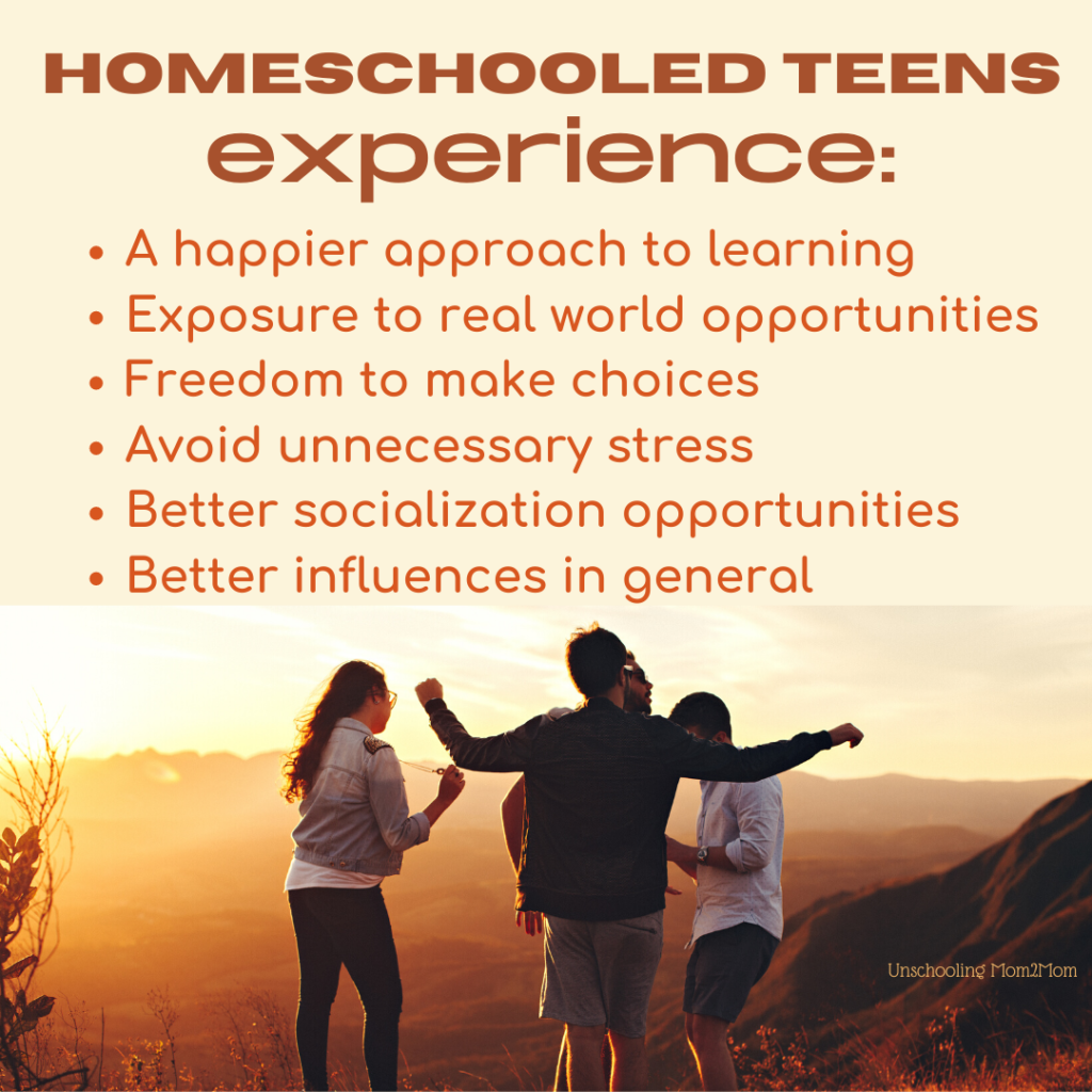 Homeschooled Teens Experiences
