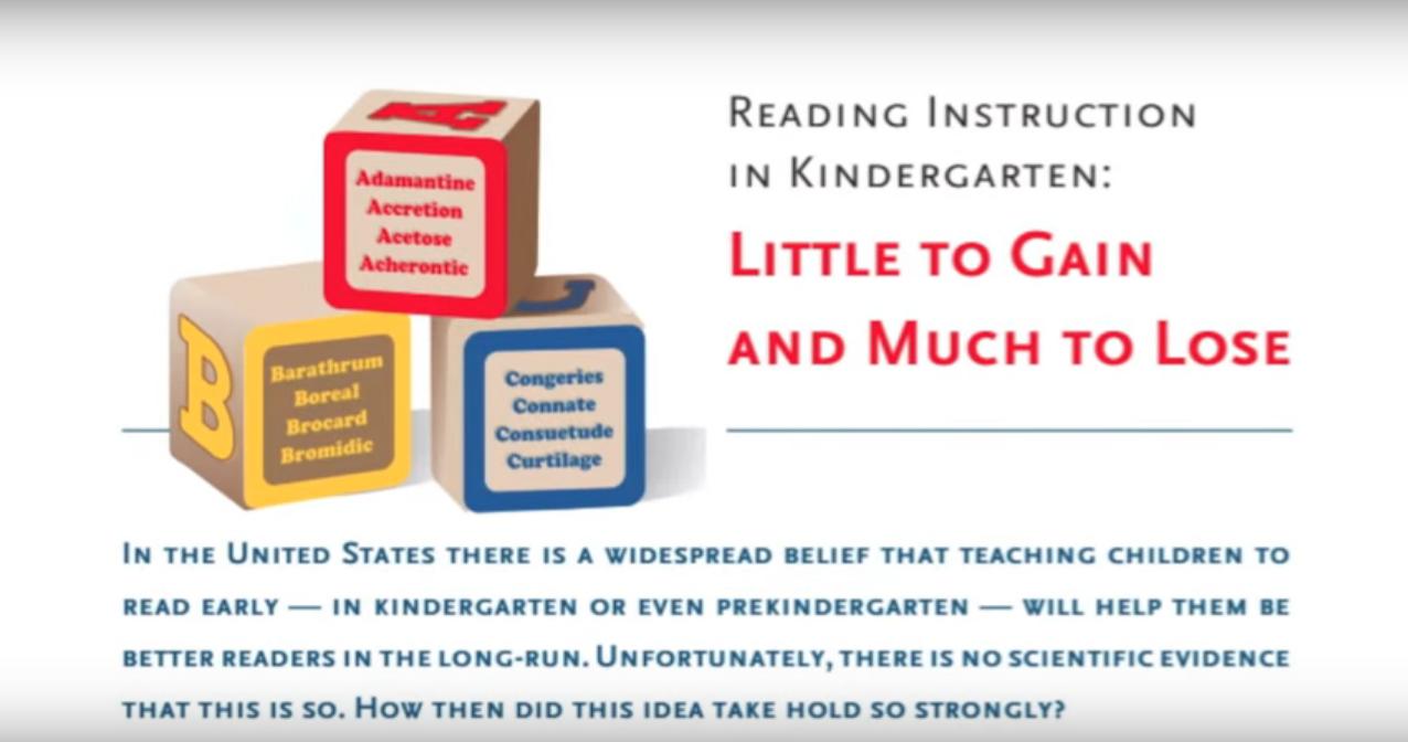 Reading Instruction in K