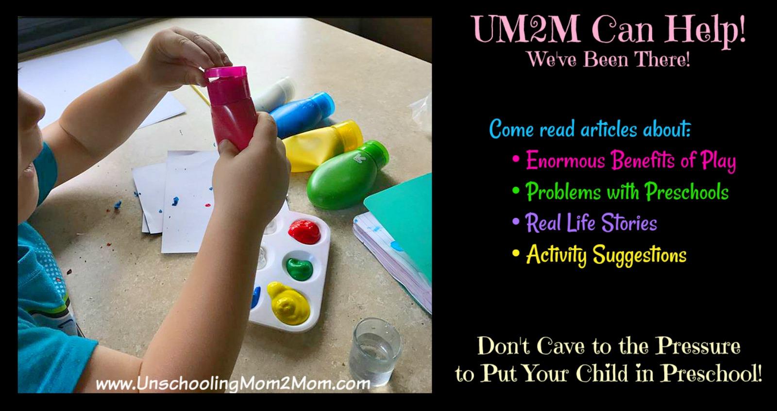 Unschooling-Preschool ideas