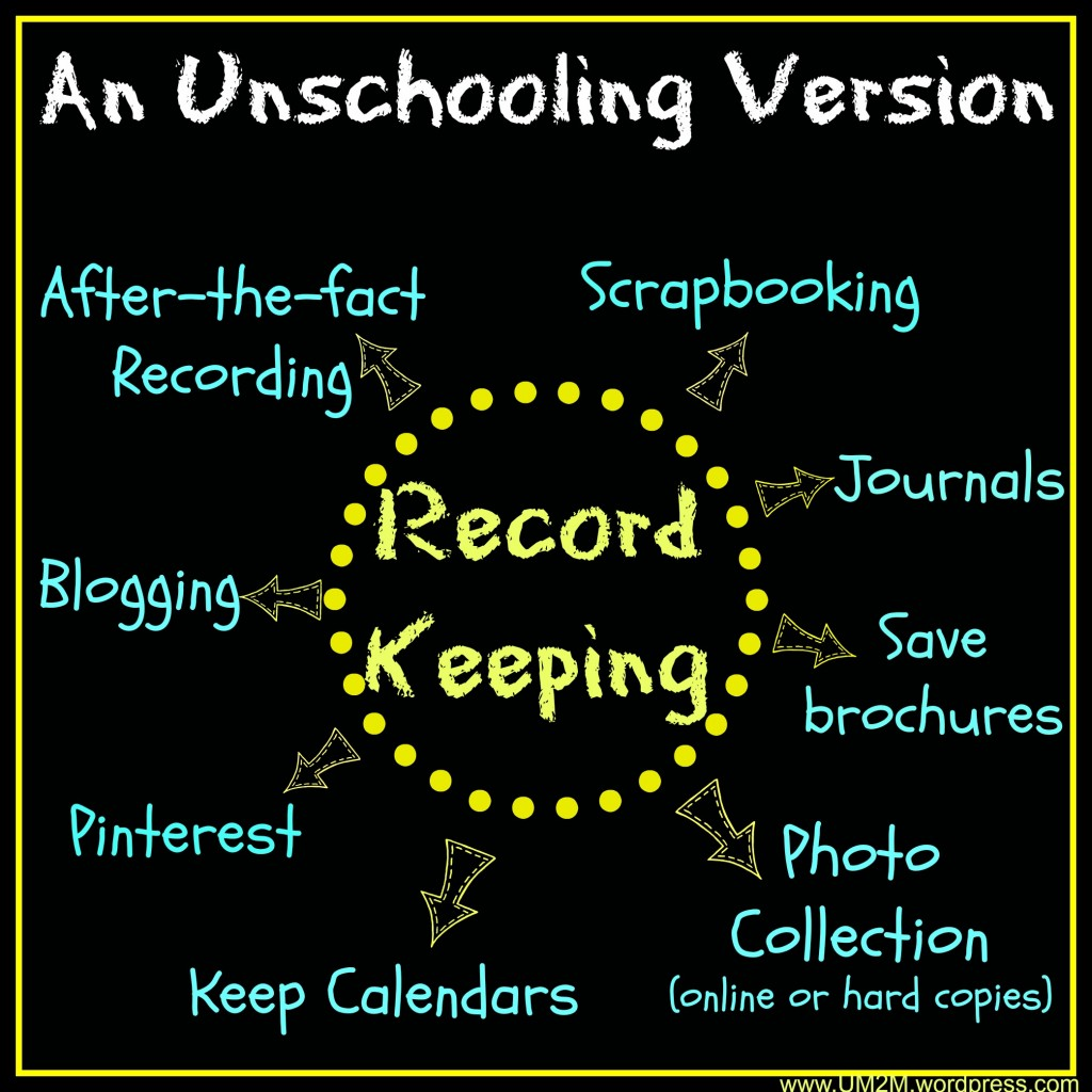 Unschoolers' Record Keeping
