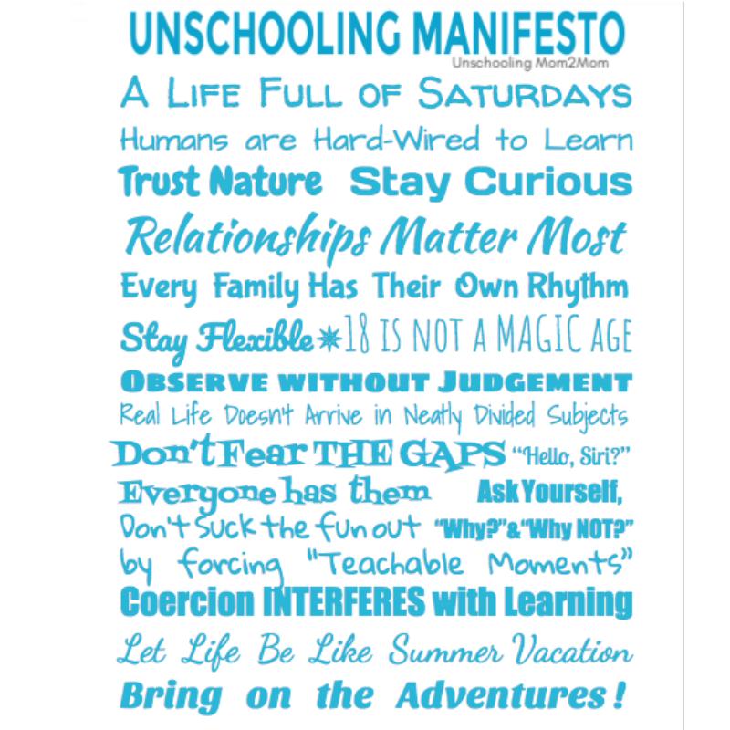 Unschooling Manifesto