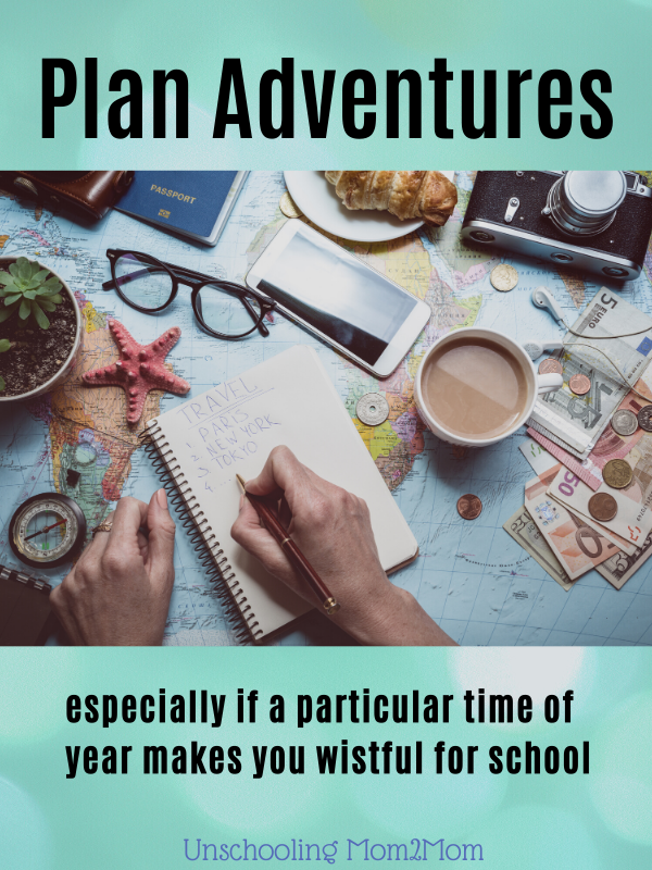 Plan adventures - deschool