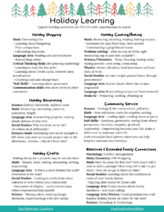 Holiday Learning PDF