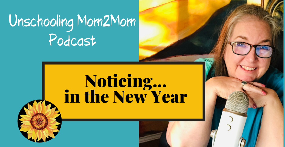 Unschooling, Noticing, and the New Year