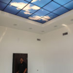 LED backlit skylights