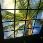 palm tree ceiling led skylight