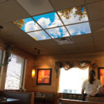 restaurant artificial sky light