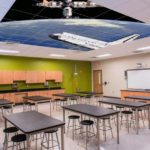 k-12 school ceiling acoustic tile ceiling art