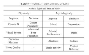 natural light and human body