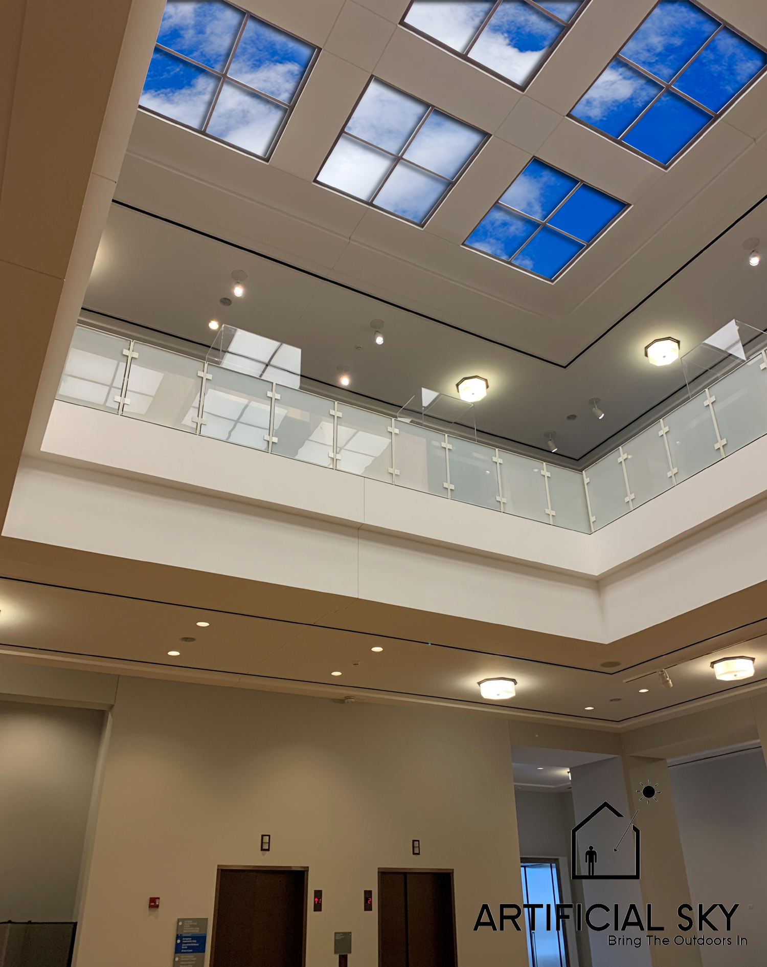 Example of an Artificial Sky Ceiling